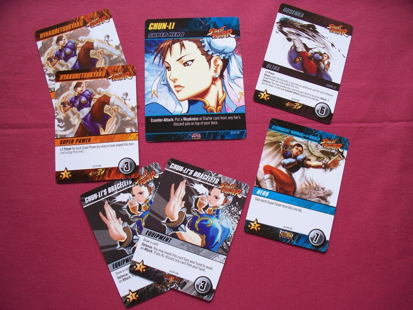Street Fighter deck building game