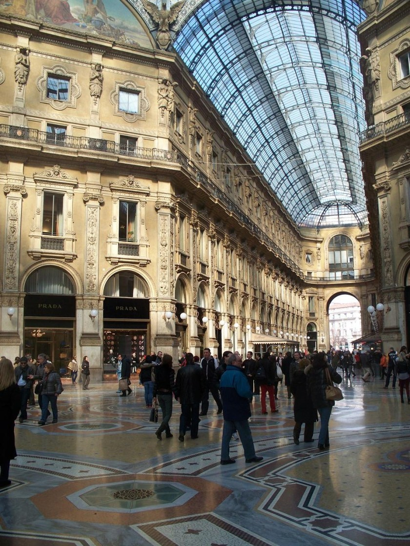 Galleria Vittorio Emmanuele, one of the world's first purpose-built shopping centres