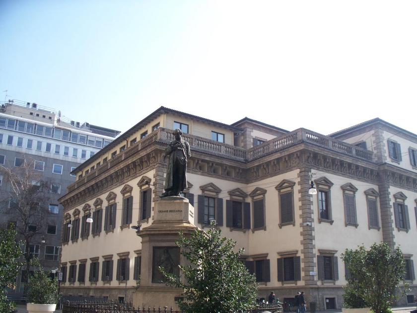 Piazza Beccaria - Cesare Beccaria was a key figure in Enlightenment Milan