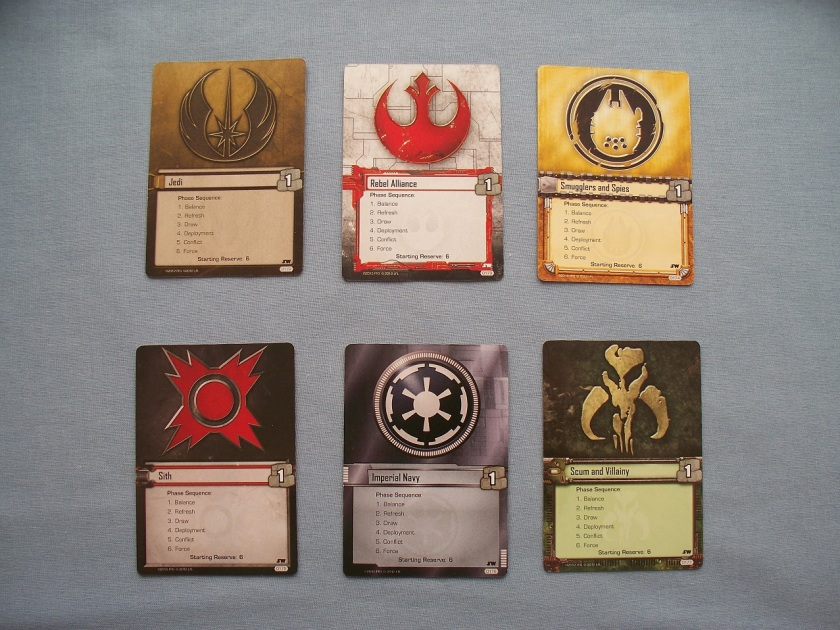 Star Wars LCG affiliations