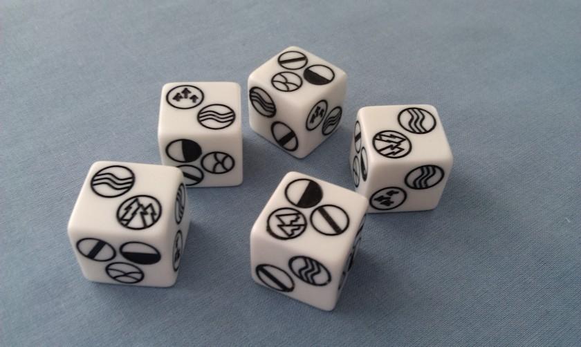 Runebound dice