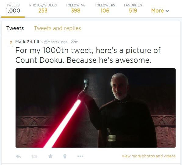 1000 tweets!