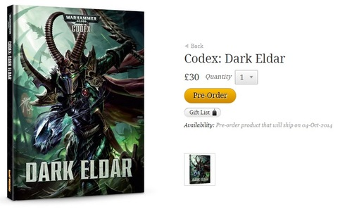 Dark Eldar codex