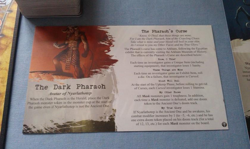 Arkham Horror Curse of the Dark Pharaoh