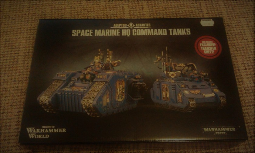 Space Marine HQ Command Tanks Warhammer World Exclusive