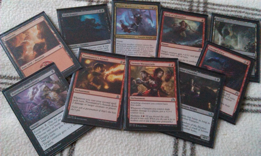 Magic the Gathering red/black vampires