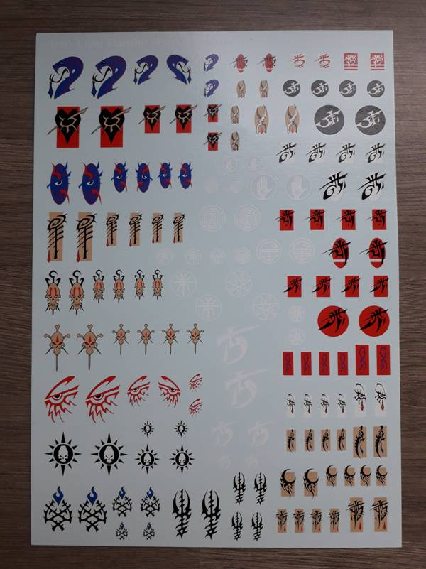 Dark Eldar transfer sheet