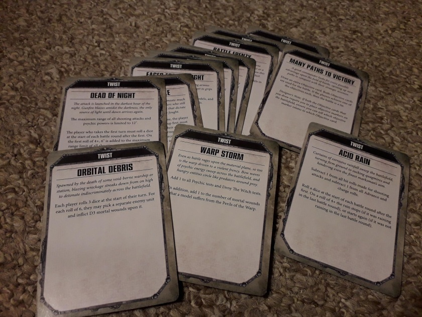 Warhammer 40k Open War cards